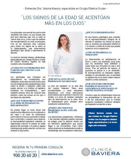 Entrevista a la Dra. Salomé Abenza en la revista Buena Vida (El País) 13-09-2019