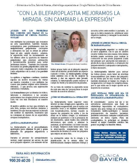Entrevista a la Dra. Salomé Abenza en la revista Mujer Hoy del 26-09-2020